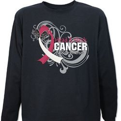 Head and Neck Cancer Awareness Butterfly Long Sleeve Shirt