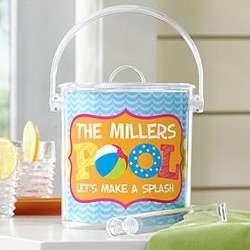 Personalized Pool Fun Acrylic Ice Bucket