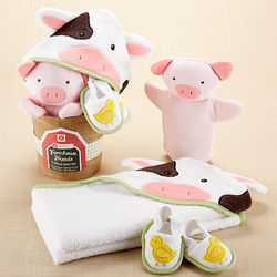 Farm Friends Bathtime Baby Gift Set