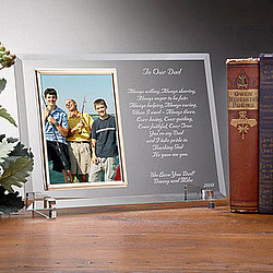 Dear Dad Poem Personalized Frame