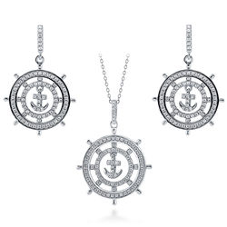 Anchor Fashion Earrings and Pendant