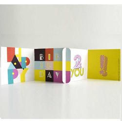 Deco Birthday cardZEES Greeting Card