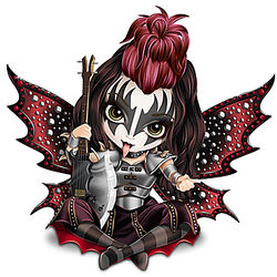 KISS Gene Simmons Fairy Figurine