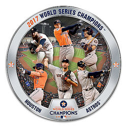 Houston Astros 2017 World Series Commemorative Plate
