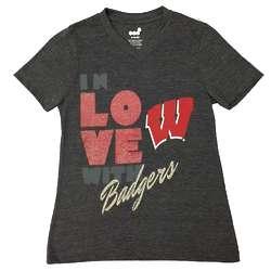 Girls Wisconsin Badgers Love Tee