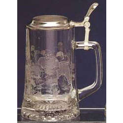 Engraved Football Stein