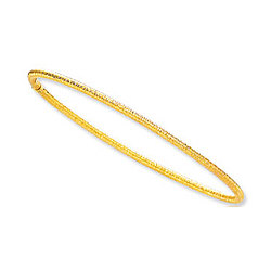 14K Gold Florentine Bangle Bracelet
