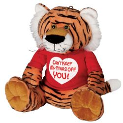 Valentine's Day Can't Keep My Paws Off You Plush Tiger