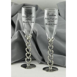 Personalized Wedding Verse Champagne Flutes