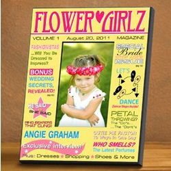 Personalized Flower Girl Magazine Picture Frame