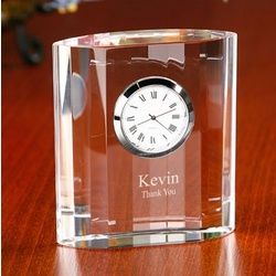 Personalized Classic Optical Crystal Desk Clock