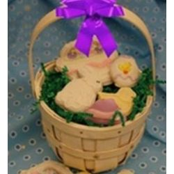 Hand Decorated Easter Cookie Gift Basket