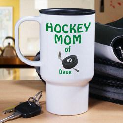 Personalized Hockey Parent Travel Mug