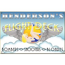 Personalized Flight Deck Bar Sign