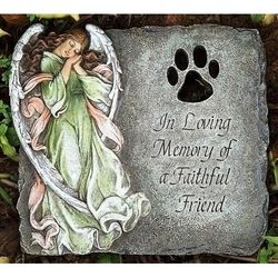 In Loving Memory of a Faithful Friend Pet Memorial Stone