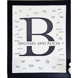 Classic Monogram Signature Framed Canvas