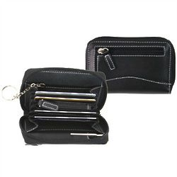 Compact Leather Mini Wallet