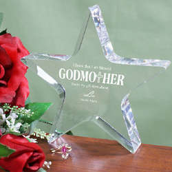 Personalized Godmother Star Plaque