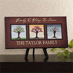 Seasons Personalized Family Name Artwork