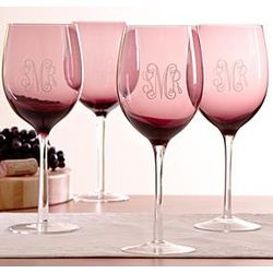Personalized Colored Wine Glasses