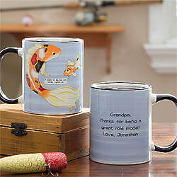 Personalized Big Fish Little Fish Coffee Mug