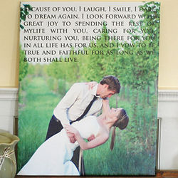Personalized Vows Custom Photo Gallery Wrapped Canvas