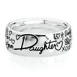 Sterling Silver Daughter Sentiments Ring