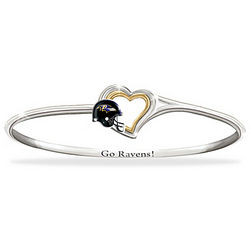 Go Ravens! Engraved Bangle Bracelet