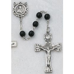 Sterling Silver and Genuine Black Onyx Rosary