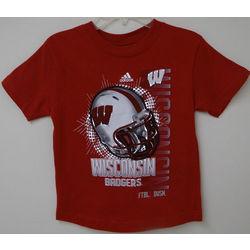 Boy's Wisconsin Badgers Helmet T-Shirt