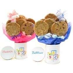 Baby Stemmed Tin Cookie Bouquet
