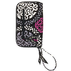 Zip Around Paisley Wallet