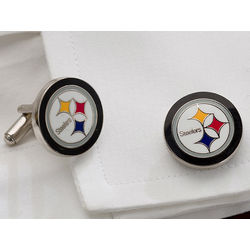 Pittsburgh Steelers Team Logo Cuff Links