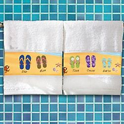 Personalized Flip Flops Hand Towel