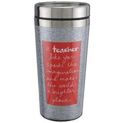 A Teacher Like You Red Glitter Tumbler