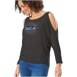 Seattle Seahawks Cutaway Shoulder Long Sleeve T-Shirt