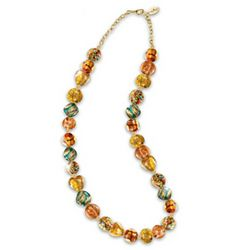 Thomas Kinkade Colors Of Venice Art-Glass Beaded Necklace