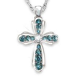 Heaven's Blessing Blue and White Diamond Pendant