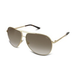 Double Bridge Metal Aviator Sunglasses