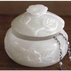 White Garden Stone Jewelry Box