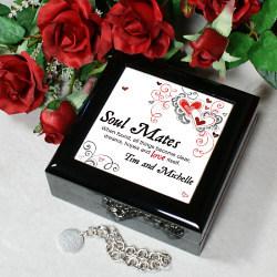 Soul Mates Personalized Keepsake Box