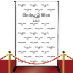 Custom Red Carpet Wedding Rings Banner
