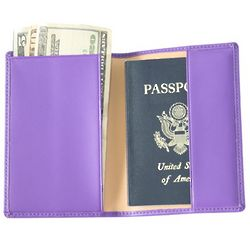 Purple Leather Passport Cover