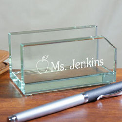 Personalized Teacher Business Card Holder