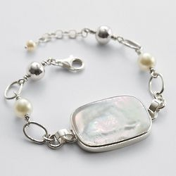Rectangle Mother of Pearl Bracelet