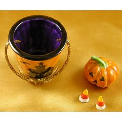 Halloween Pail with Pumpkin Limoges Box