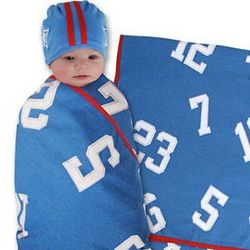 All Star Swaddle Blanket and Cap