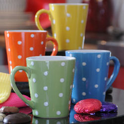 Colorful Polka Dot Mugs