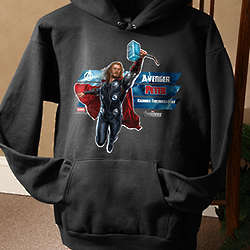 Personalized Avengers Adult Black Sweatshirt