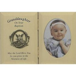 Double Granddaughter Baptism Photo Frame